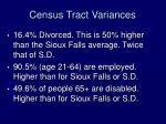 census tract variances