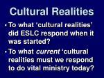 cultural realities
