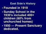 east side s history