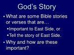 god s story