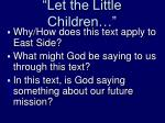 let the little children1