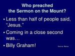 who preached the sermon on the mount