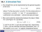 1a 1 a univariate test1