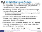 1a 2 multiple regression analysis