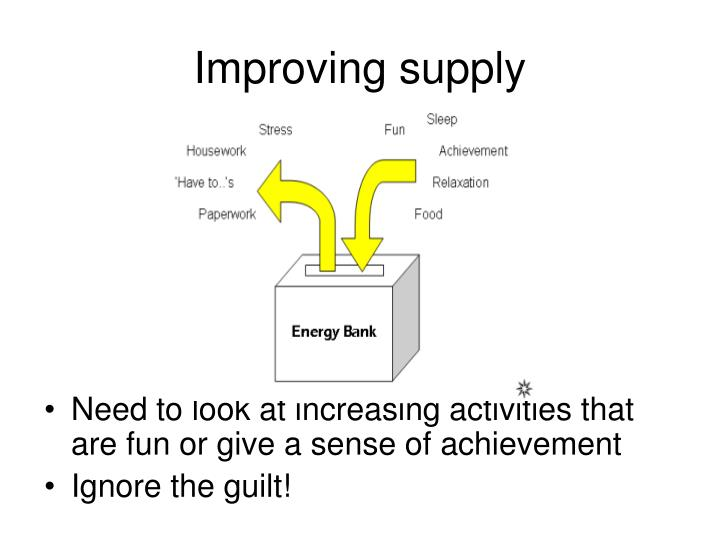 Improving supply
