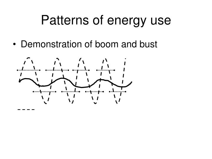 Patterns of energy use