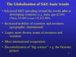 the globalization of s i basic trends