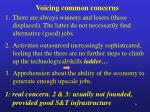 voicing common concerns