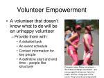 volunteer empowerment