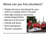 where can you find volunteers