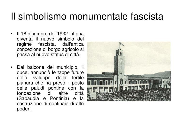 Il simbolismo monumentale fascista2