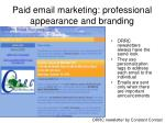 paid email marketing professional appearance and branding