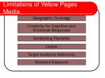 limitations of yellow pages media