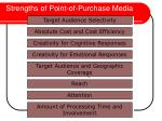 strengths of point of purchase media