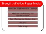 strengths of yellow pages media