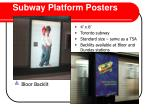 subway platform posters