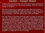 caution danger ahead