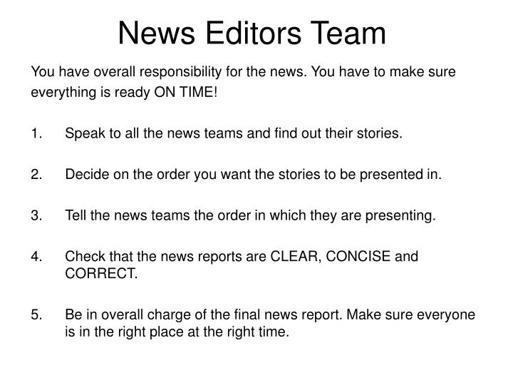 news editors team n.