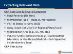 extracting relevant data