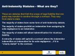 anti indemnity statutes what are they