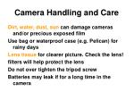 camera handling and care