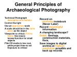 general principles of archaeological photography