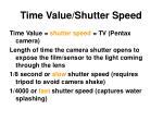 time value shutter speed