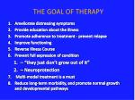 the goal of therapy