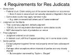 4 requirements for res judicata