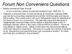 forum non conveniens questions