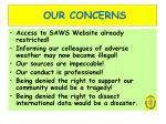 our concerns