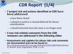 cdr report 1 4