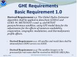 ghe requirements basic requirement 1 01