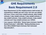 ghe requirements basic requirement 2 0