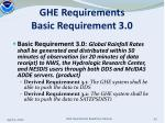 ghe requirements basic requirement 3 0