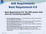 ghe requirements basic requirement 4 0