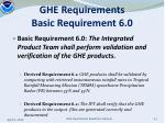 ghe requirements basic requirement 6 0
