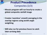 product precedence composites 2 2