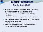 product precedence model data 2 2