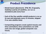 product precedence