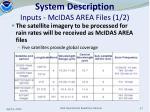 system description inputs mcidas area files 1 2
