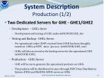 system description production 1 2