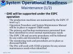 system operational readiness maintenance 1 2