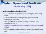 system operational readiness monitoring 1 2