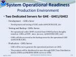 system operational readiness production environment