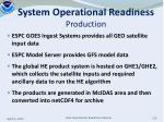 system operational readiness production