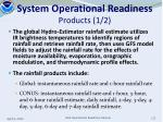 system operational readiness products 1 2