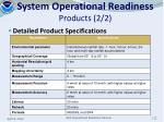 system operational readiness products 2 2