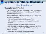 system operational readiness user readiness1