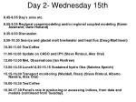 day 2 wednesday 15th